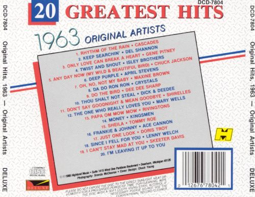 20 Greatest Hits 1963
