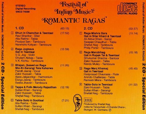 Festival of Indian Music Romantic Ragas
