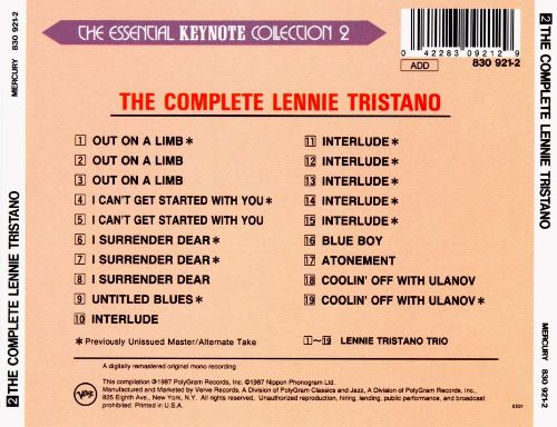 The Complete Lennie Tristano on Keynote