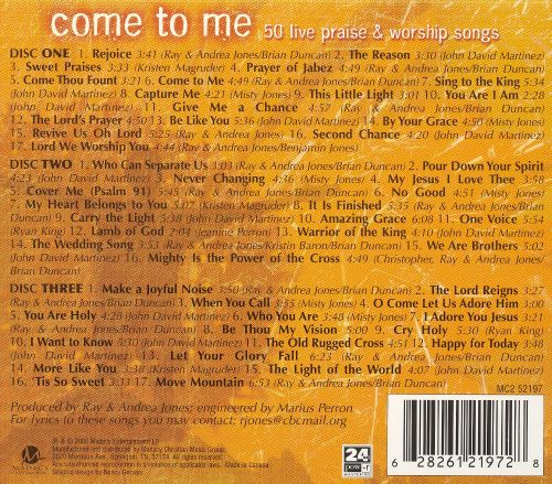 Come to Me: 50 Live Praise and Worship Songs