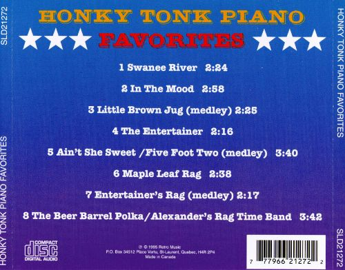 Honky Tonk Piano Favorites [Prime Cuts]