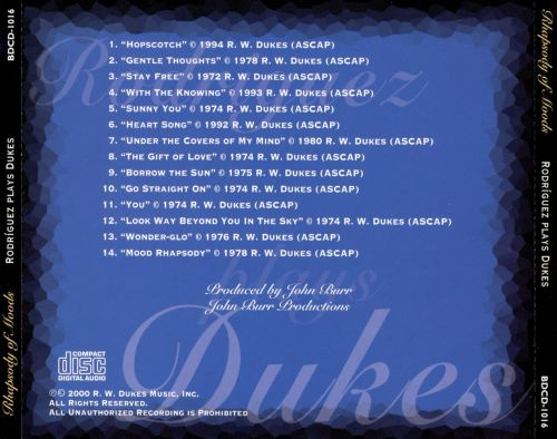 Rhapsody of Moods: Rodríguez Plays Dukes