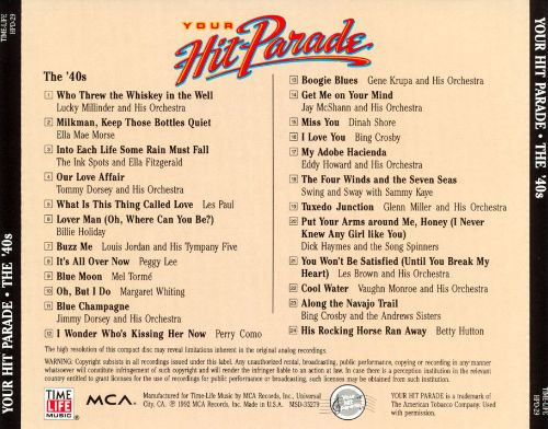 Your Hit Parade: The '40s