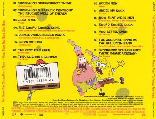 the spongebob squarepants movie music from the movie and