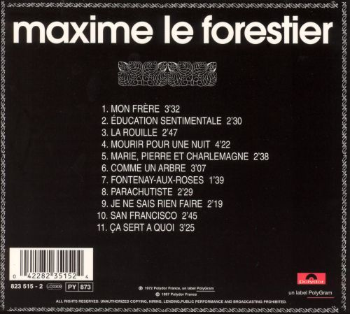 mon fr re maxime le forestier songs reviews credits. Black Bedroom Furniture Sets. Home Design Ideas