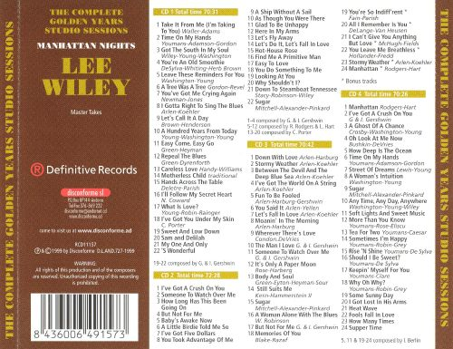 Manhattan Nights: The Complete Golden Years Studio Sessions