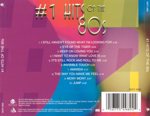 #1 Hits of the 80s [Disc 2]