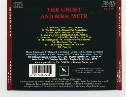 The Ghost and Mrs. Muir [Original Motion Picture Score]