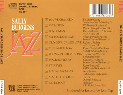 Sally Burgess Sings Jazz