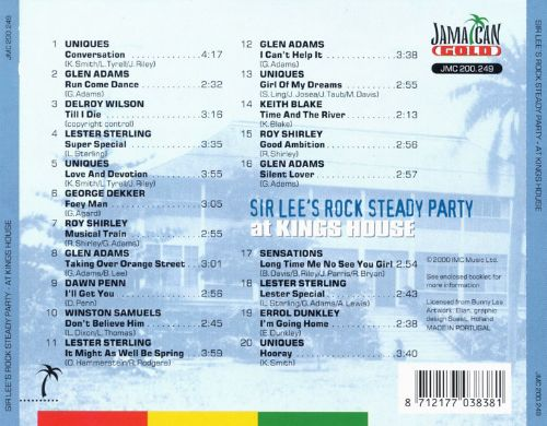 Sir Lee's Rock Steady Party, Vol. 2: At Kings House