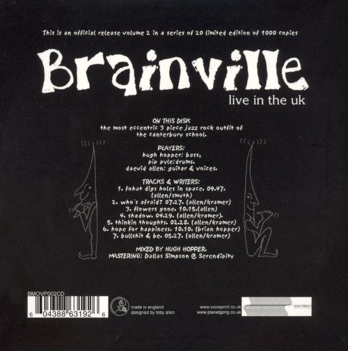 Brainville Live in the UK