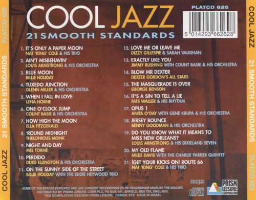 Cool Jazz: 21 Smooth Standards