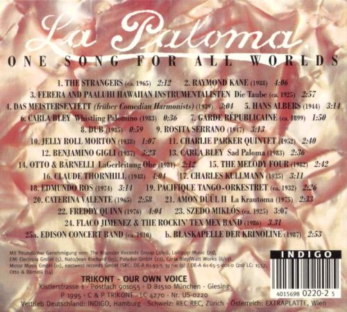 La Paloma: One Song For All Worlds, Vol. 1
