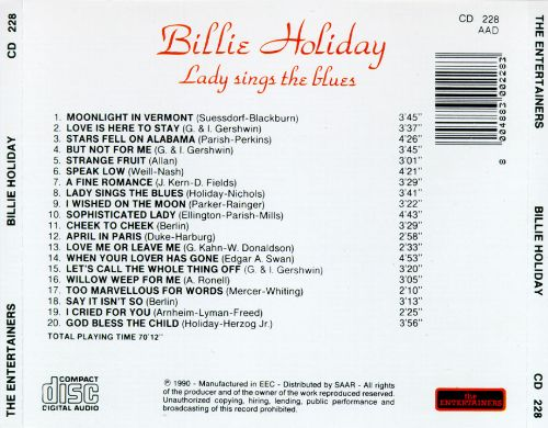 Lady Sings the Blues [Entertainers]