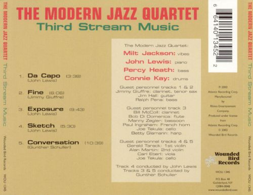The Modern Jazz Quartet discography - Rate Your Music