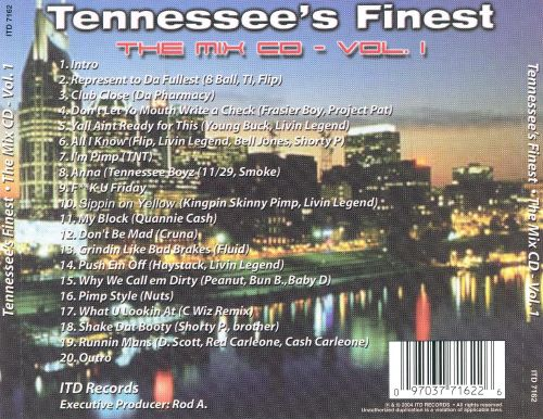 Tennessee's Finest: The Mix CD, Vol. 1