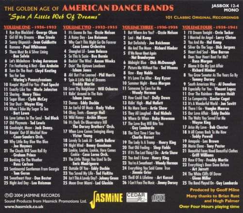 Golden Age of American Dance Bands: Spin a Little Web of Dreams