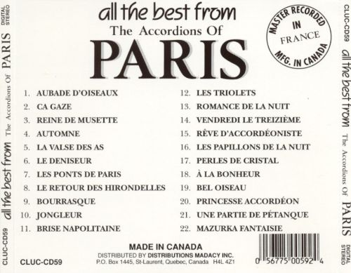 All the Best from the Accordians of Paris