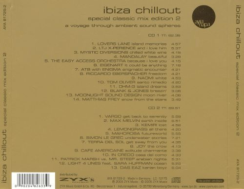 Ibiza chillout special classic mix edition vol 2 for Classic ibiza house tracks
