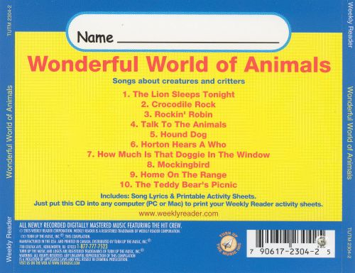 Weakly Reader: Wonderful World of Animals - Songs About Critters and Creatures