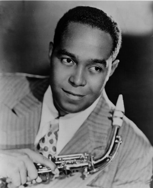 Charlie Parker, likely the greatest saxophonist of all time. Select the image for his music.
