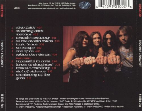 Terrible Certainty - Kreator | Songs, Reviews, Credits ...