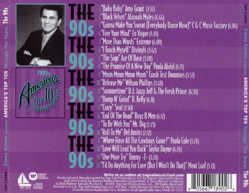 Casey Kasem: America's Top 10 Through Years - The 90's