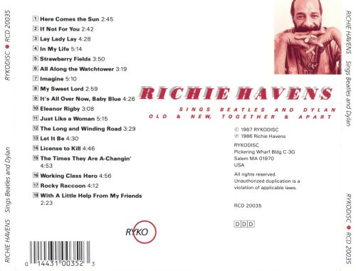 Richie Havens - Sings Beatles And Dylan: Old & New, Together & Apart