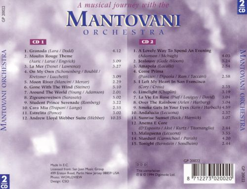 ... A Musical Journey With the Mantovani Orchestra