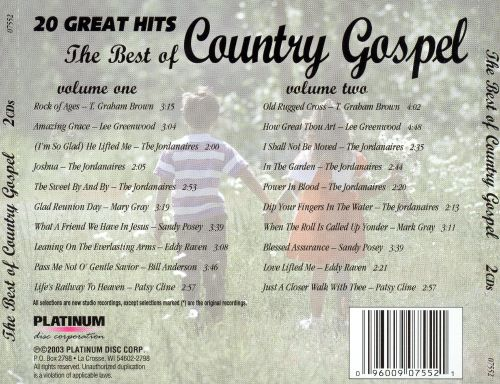 20 Great Hits of Country Gospel