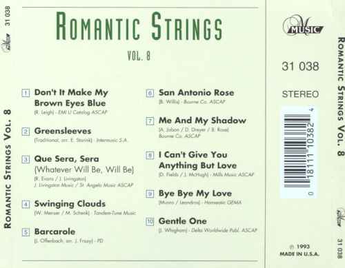 Romantic Strings, Vol. 8