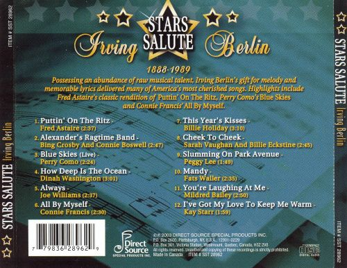 Stars Salute Irving Berlin [Direct Source]