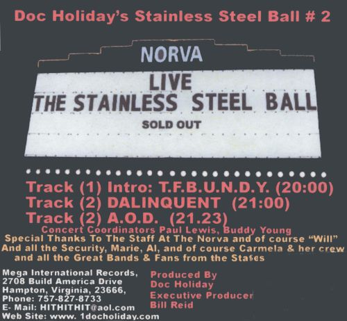 Doc Holiday's the Stainless Steel Ball #2