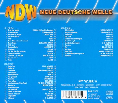 neue deutsche welle various artists songs reviews. Black Bedroom Furniture Sets. Home Design Ideas