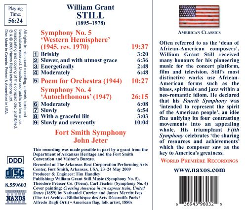William Grant Still: Symphonies Nos. 4 & 5; Poem for Orchestra