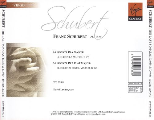 Schubert: The Last Sonatas, D.959 & 960