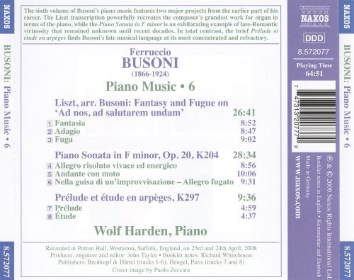 Busoni: Piano Music, Vol. 6