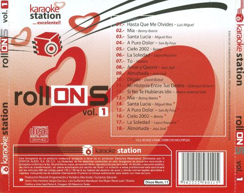 Karaoke Station: Rollones, Vol. 1, Disco Num. 11