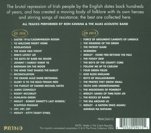 Irish Songs of Rebellion, Resistance and Reconciliation
