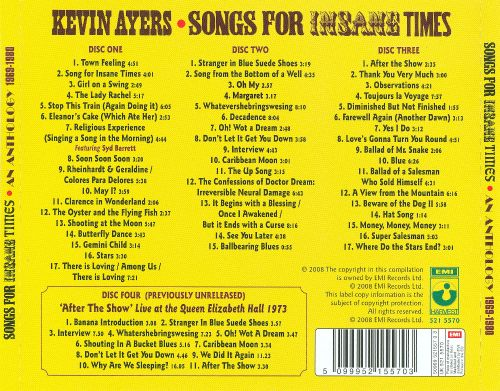 Songs For Insane Times: An Anthology 1969-1980
