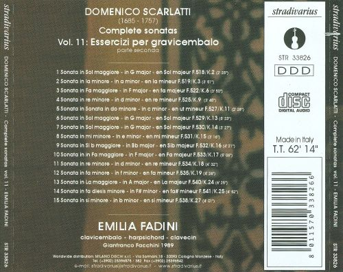Domenico Scarlatti: Complete Sonatas, Vol. 11: Essercizi per Gravicembalo, Part 2