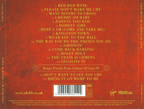 The Best Of Labour Of Love Ub40 Songs Reviews