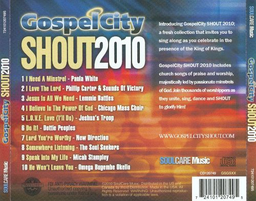 Tribute to the King 2010: Gospel City Shout