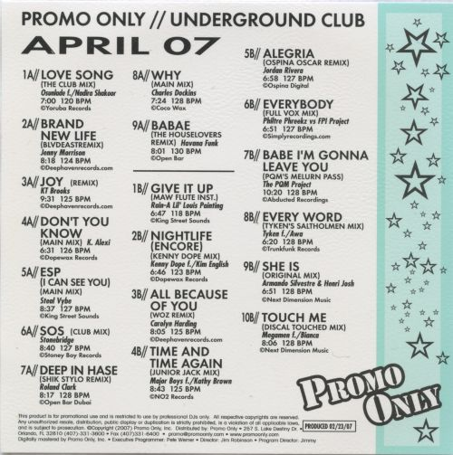 Promo Only: Underground Club (April 2007)