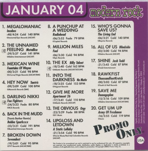 Promo Only: Modern Rock Radio (January 2004)