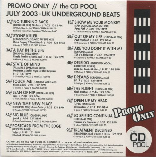 Promo Only: Underground Club (July 2003)