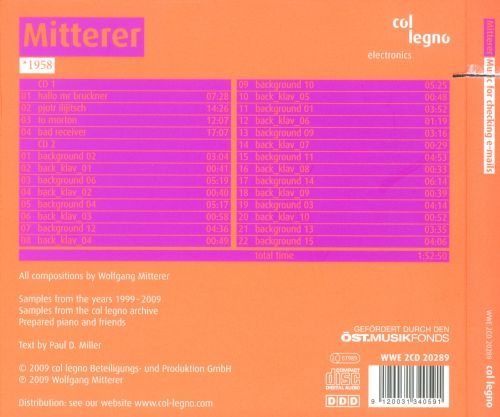 Mitterer: Music For Checking E-mails