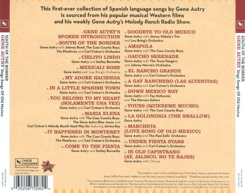 Gene Autry Mexicali Rose - South Of The Border