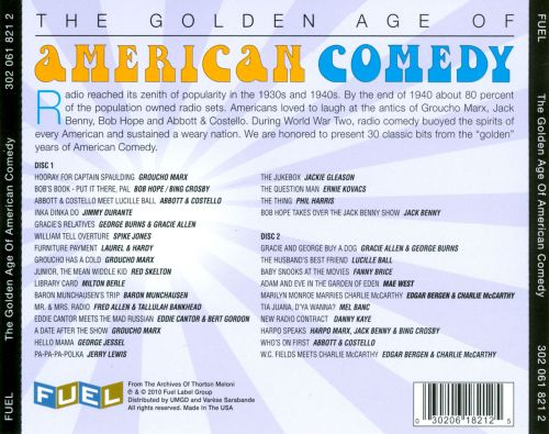 The Golden Age of American Comedy