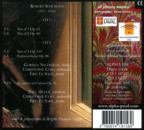 Schumann: Piano & Chamber Music, Vol. 9
